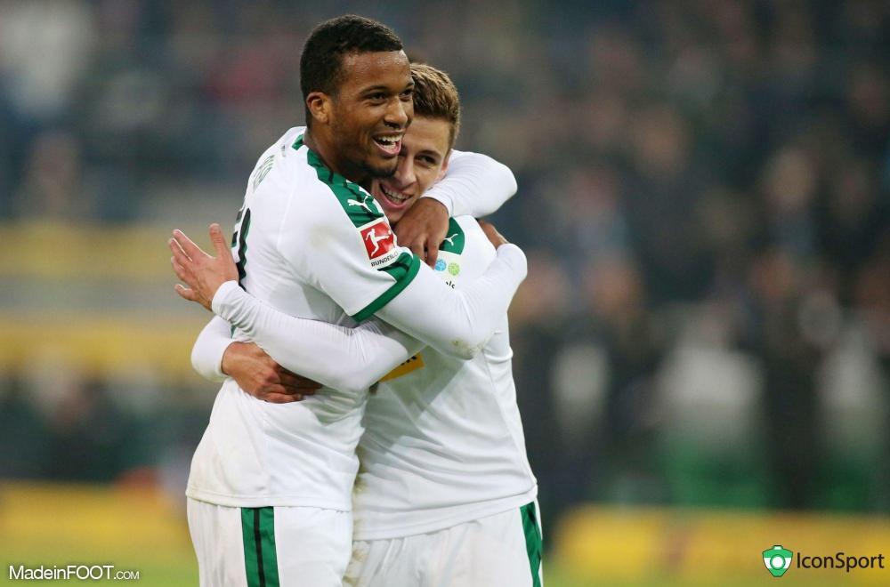 Alassane Pléa avec le Borussia M'Gladbach