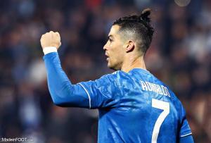 Cristiano Ronaldo inscrit un deuxième but face à l'OL.