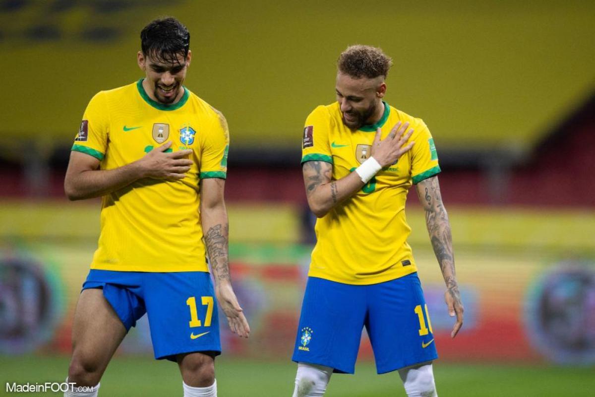 Le Brésil disputait un match dans la nuit de dimanche à lundi.