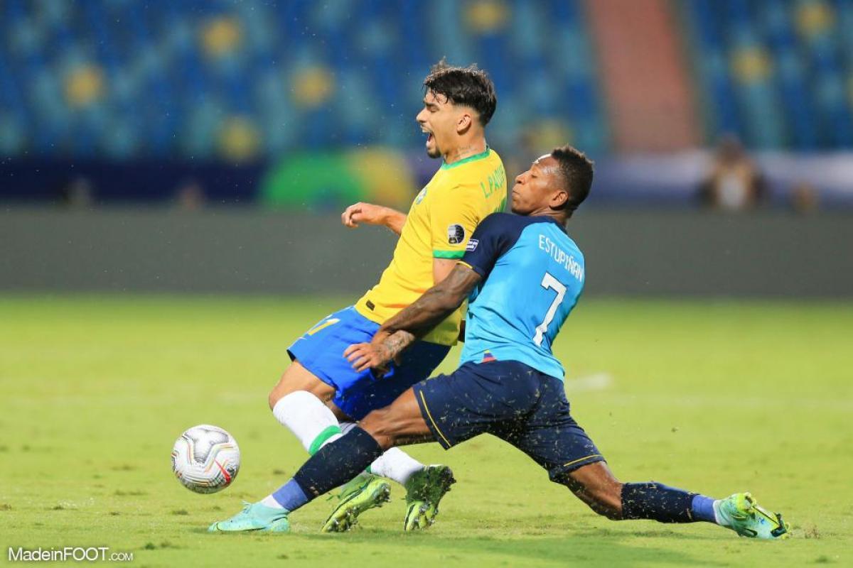 Lucas Paqueta a disputé 63 minutes hier avec le Brésil