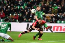 Debuchy (ASSE) et Da Silva (Rennes)