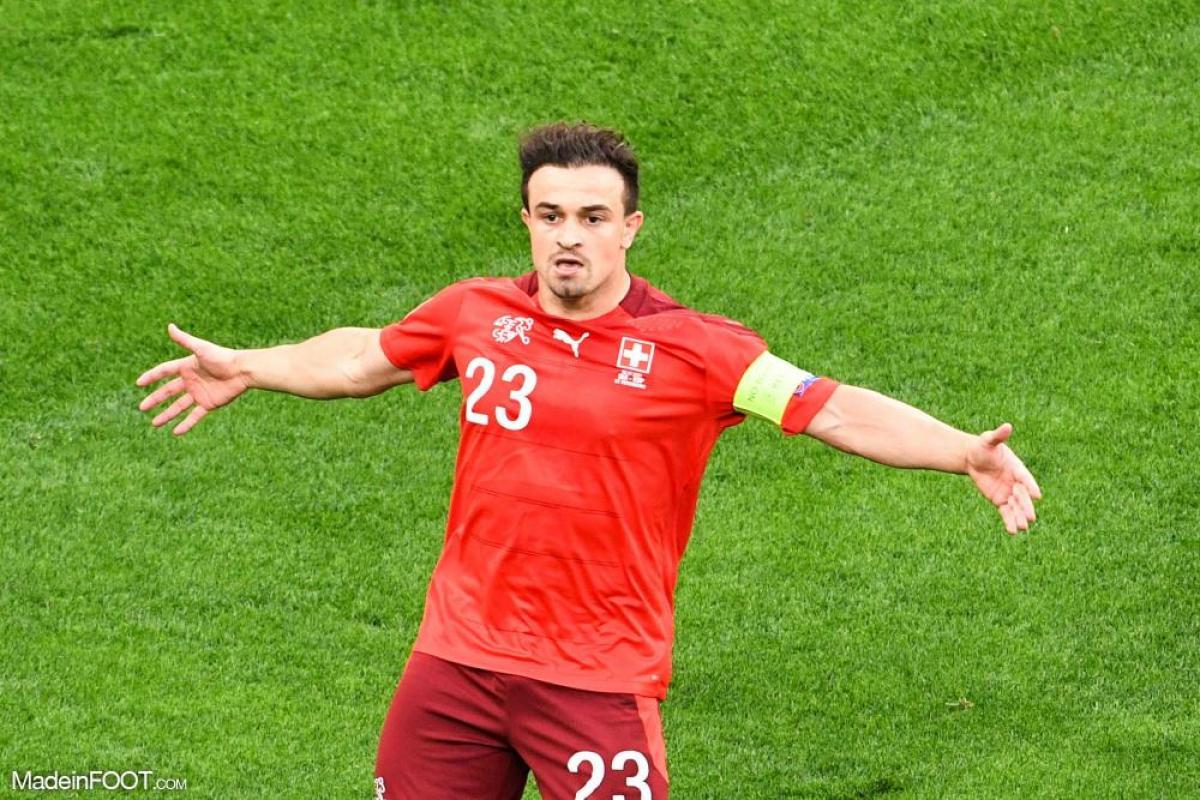 Shaqiri, l'ailier de l'Olympique Lyonnais et de la Suisse.