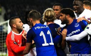 Plusieurs échauffourées avaient eu lieu à l'aller entre joueurs d'Everton et de Lyon.