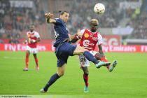 Zlatan IBRAHIMOVIC / Pape Ndiaye SOUARE - 20.10.2012 - PSG / Reims - 9eme journee de Ligue 1 -