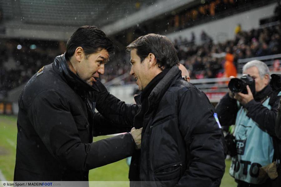 Successeur d'Hubert Fournier (à gauche), Bruno Genesio pourrait laisser son poste à Rudi Garcia (à droite).