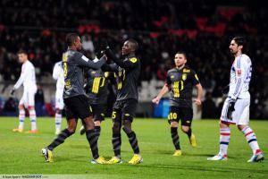 Joie Lille - Salomon KALOU - 10.02.2013 - Lyon / Lille - 26eme journee de Ligue 1 -