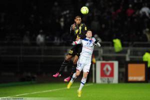 Ronny RODELIN / Anthony REVEILLERE - 10.02.2013 - Lyon / Lille - 26eme journee de Ligue 1 -