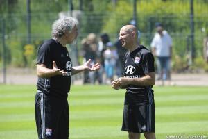 Antonio Pintus (à droite) ici en discussions avec Joël Bats.
