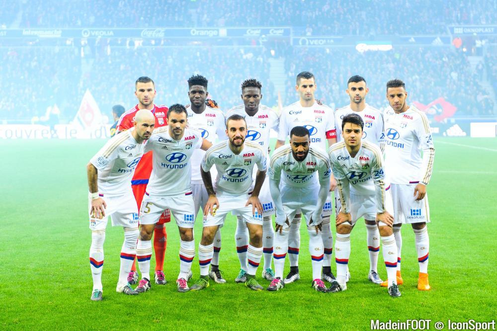 Le groupe de l'OL pour Montpellier.
