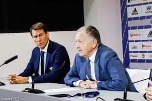 Jean-Michel Aulas et Rudi Garcia en conférence de presse