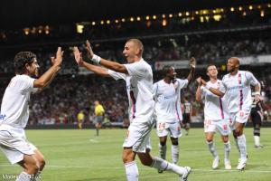 Karim Benzema, ici sous les couleurs de l'Olympique Lyonnais.