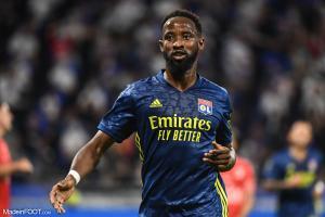 Moussa Dembélé, l'attaquant de l'Olympique Lyonnais.