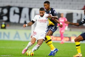 Memphis Depay, l'attaquant de l'Olympique Lyonnais.