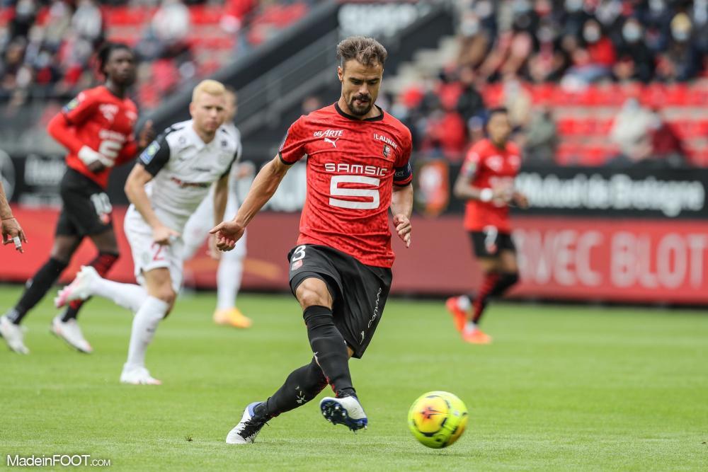 Damien Da Silva, ici sous les couleurs du Stade Rennais FC.