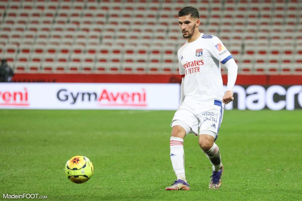 Formé à l'OL, Houssem Aouar a disputé 170 matchs et inscrit 33 buts avec son club de coeur