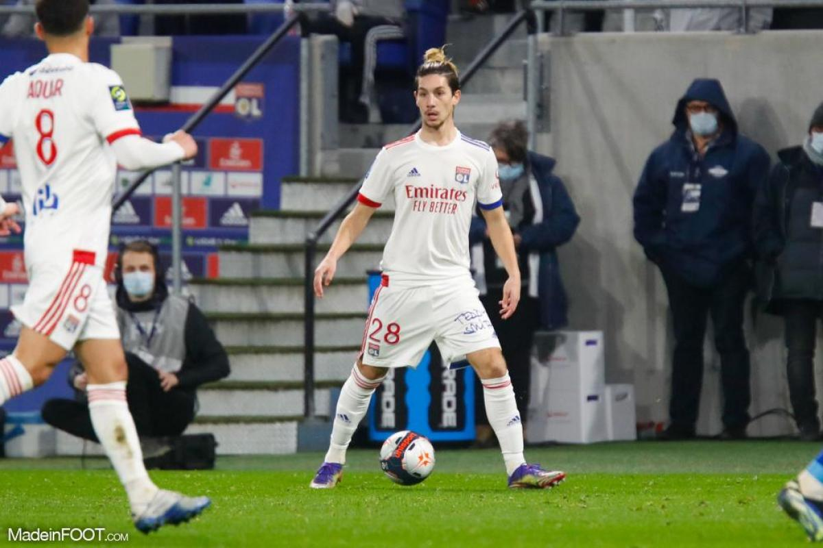 Florent Da Silva, le milieu de terrain de l'Olympique Lyonnais.