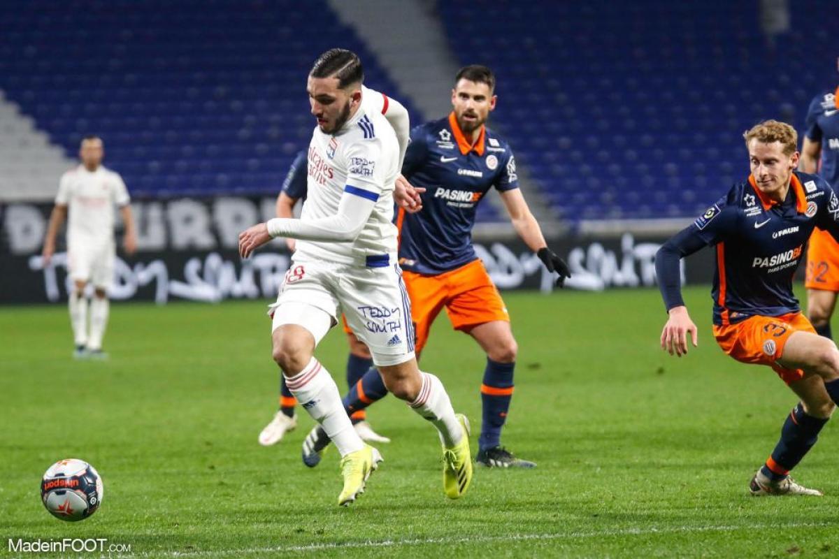 Rayan Cherki, le milieu de terrain offensif ou attaquant de l'Olympique Lyonnais.