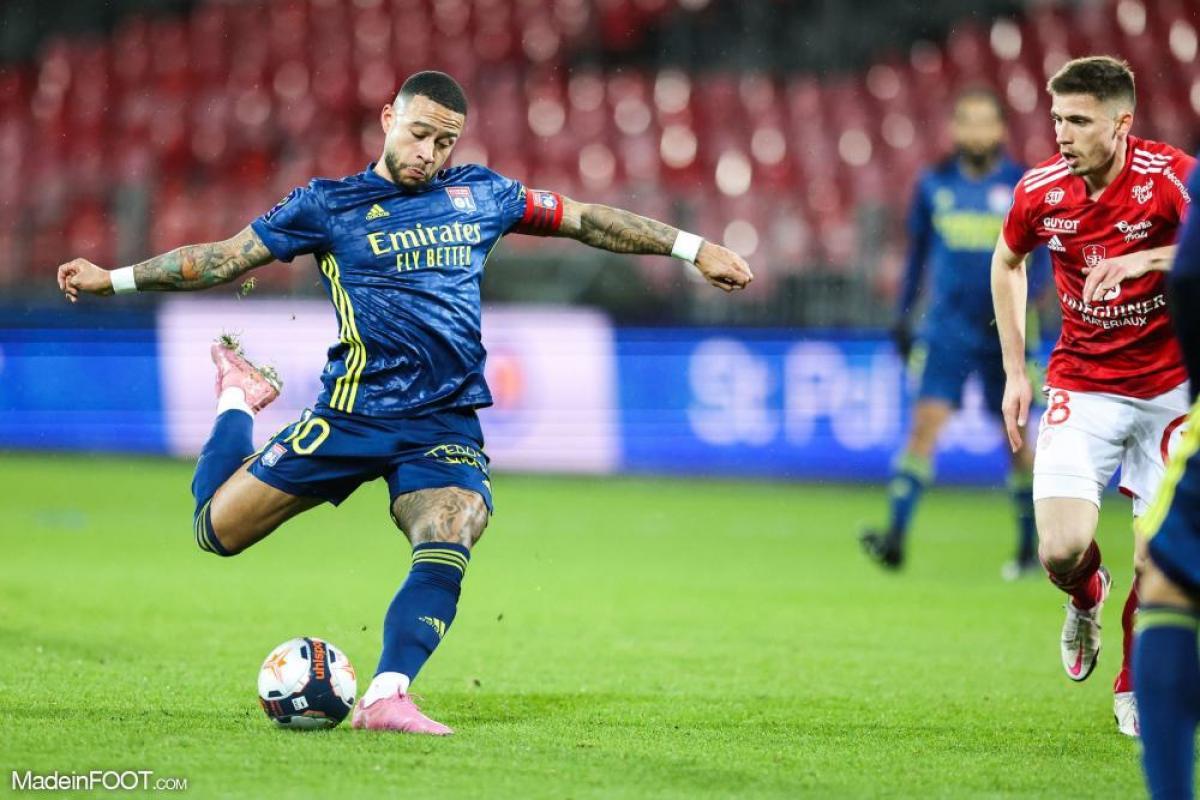 Memphis Depay (OL) fait partie des trois finalistes pour le titre de meilleur joueur du mois de février en Ligue 1.