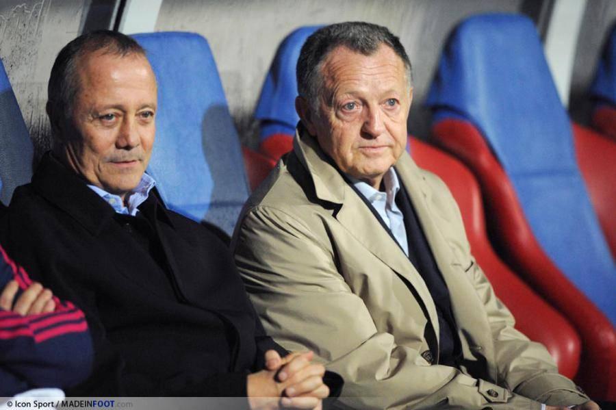 Bernard Lacombe et son président, Jean-Michel Aulas