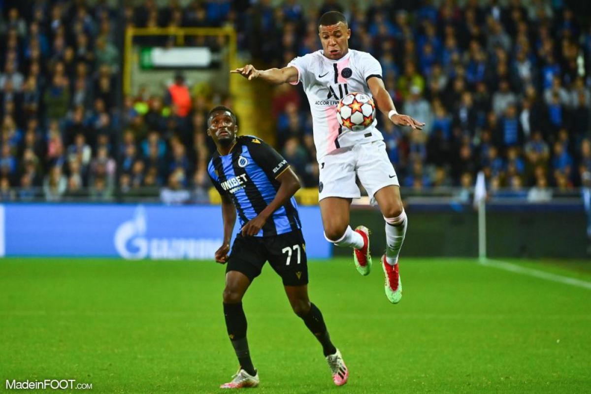 Kylian Mbappé est sorti sur blessure contre le Club Bruges